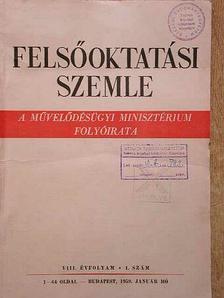 Felsőoktatási Szemle 1959. (nem teljes évfolyam) [antikvár]