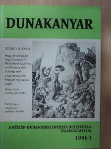 Balla Tibor - Dunakanyar 1986/1. [antikvár]