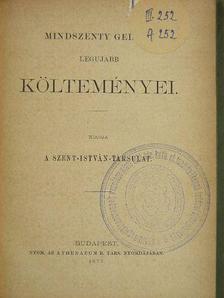 Mindszenty Gedeon - Mindszenty Gedeon legujabb költeményei [antikvár]