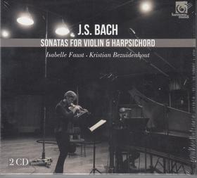 Bach - SONATAS FOR VIOLIN&HARPSICHORD,2 CD FAUST/BEZUIDENHOUT