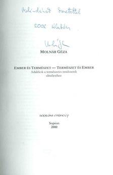 Molnár Géza - Ember és Természet - Természet és Ember (dedikált) [antikvár]