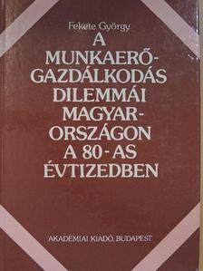 Fekete György - A munkaerő-gazdálkodás dilemmái Magyarországon a 80-as évtizedben [antikvár]