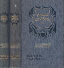Wlassics Gyula - Deák Ferencz munkáiból I-II. kötet [antikvár]