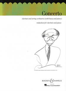 COPLAND, AARON - CONCERTO FOR CLARINET AND STRING ORCHESTRA REDUCTION FOR CLARINET AND PIANO