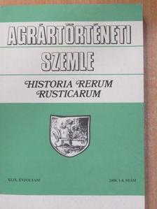 Bognár Bulcsu - Agrártörténeti Szemle 2008/1-4. [antikvár]