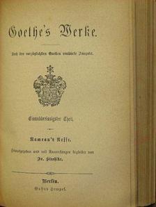 Goethe - Benvenuto Cellini/Rameau's Neffe/Philipp Hackert (gótbetűs) [antikvár]