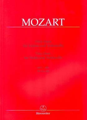 MOZART, W,A, - ZWEI DUOS FÜR VIOLINE UND VIOLONCELLO NACH KV 423, 424 (DIETRICH BERKE)