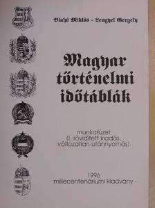 Blahó Miklós - Magyar történelmi időtáblák [antikvár]