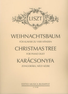 Liszt Ferenc - KARÁCSONYFA (WEIHNACHTSBAUM) ZONGORÁRA, NÉGY KÉZRE (KOVÁTS GÁBOR)