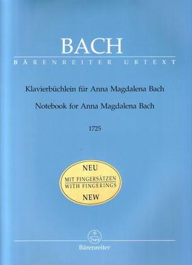 J. S. Bach - KLAVIERBÜCHLEIN FÜR ANNA MAGDALENA BACH 1725 URTEXT MIT FINGERAETZEN