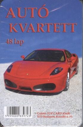 .- - Autó kvartett - kártya