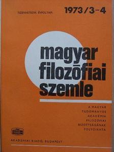 Balogh István - Magyar Filozófiai Szemle 1973/3-4. [antikvár]
