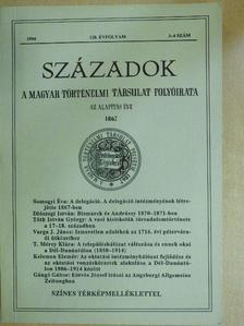 Bárány György - Századok 1994/3-4. [antikvár]