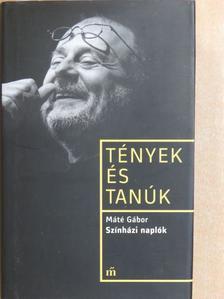Máté Gábor - Színházi naplók [antikvár]