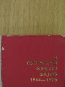 Dr. Koncz János - A Csongrád megyei sajtó 1944-1978 (minikönyv) [antikvár]