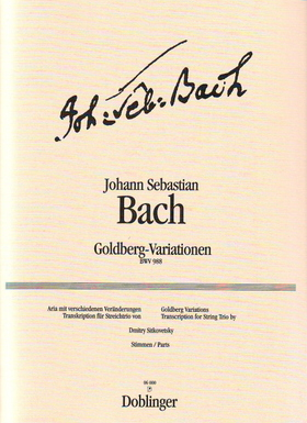 J. S. Bach - GOLDBERG-VARIATIONEN BWV 988 TRANSKRIPTION FÜR STREICHTRIO VON DMITRY SITKOVETSKY, STIMMEN