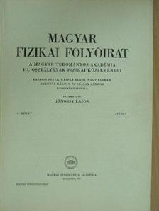 Berencz Ferenc - Magyar Fizikai Folyóirat V. kötet 1. füzet [antikvár]