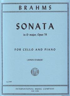 BRAHMS... - SONATA IN D MAJOR, OP.78 FOR CELLO AND PIANO (JANOS STARKER)
