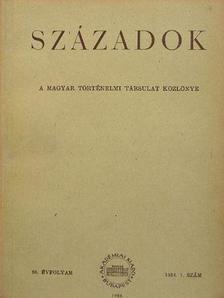 A. Sz. Jeruszalimszkij - Századok 1954/1. [antikvár]