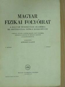 Berencz Ferenc - Magyar Fizikai Folyóirat V. kötet 2. füzet [antikvár]