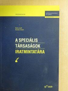 Barta Judit - A speciális társaságok iratmintatára [antikvár]