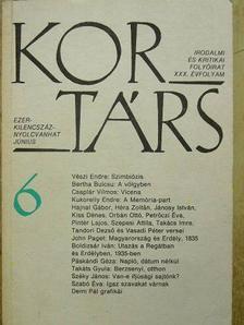 Barta János - Kortárs 1986. június [antikvár]