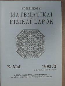 Fried Ervin - Középiskolai matematikai és fizikai lapok 1993. március [antikvár]