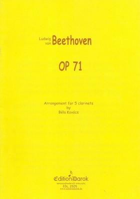 BEETHOVEN - SEXTETT OP.71 ARRANGEMENT FOR 5 CLARINETS BY BÉLA KOVÁCS