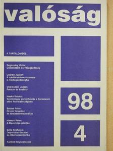 Balázs Péter - Valóság 1998. április [antikvár]