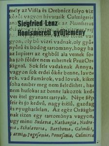 Siegfried Lenz - Honismereti gyűjtemény [antikvár]