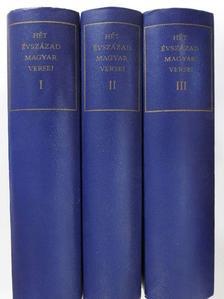 Ábrányi Emil - Hét évszázad magyar versei I-III. [antikvár]