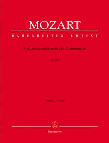 MOZART, W,A, - VESPERAE SOLENNES DE CONFESSORE KV 339, PARTITUR