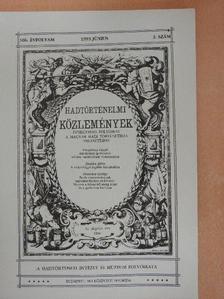 Bonhardt Attila - Hadtörténelmi Közlemények 1993. június [antikvár]