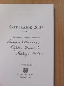 Barát Kata - Szép írások 2007 (dedikált példány) [antikvár]