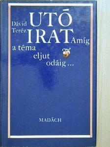 Dávid Teréz - Utóirat [antikvár]