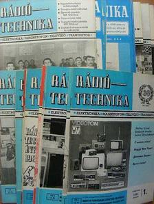Bassó Andor - Rádiótechnika 1973., 1975., 1978., 1979., 1981-85. (vegyes számok) [antikvár]