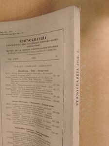 Balogh István - Ethnographia 1958/4. [antikvár]