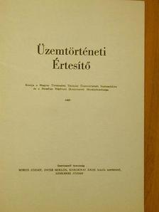 Bálint Sándor - Üzemtörténeti Értesítő 1983. [antikvár]