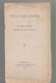 Szabó Endre - Villámlások [antikvár]