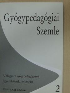 Szabó Mária - Gyógypedagógiai Szemle 2003. április-június [antikvár]