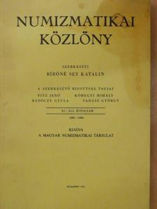 Berényi Zsuzsanna Ágnes - Numizmatikai közlöny 1991-1992 [antikvár]
