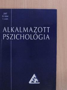 Antalovits Miklós - Alkalmazott pszichológia 2007/1. [antikvár]