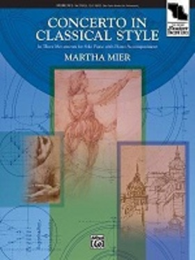 MIER, MARTHA - CONCERTO IN CLASSICAL STYLE. IN THREE MOVEMENTS FOR SOLO PIANO WITH PIANO ACC.