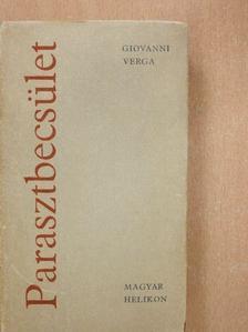 Giovanni Verga - Parasztbecsület [antikvár]