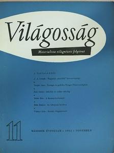 Bellér Béla - Világosság 1961. november [antikvár]