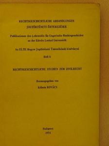 Csizmadia Andor - Rechtsgeschichtliche Studien zum Zivilrecht (dedikált példány) [antikvár]