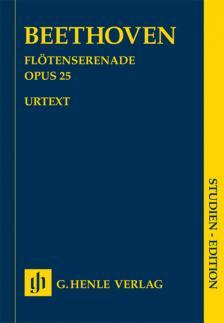 BEETHOVEN - FLÖTENSERENADE OP.25 STUDIENPARTITUR URTEXT (EGON VOSS)
