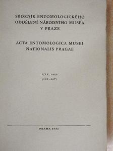 Balthasar V. - Acta Entomologica Musei Nationalis Pragae 1955. XXX/440-467 [antikvár]