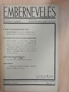 Baránszky-Jób László - Embernevelés 1947. június [antikvár]