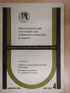 Fritz Klatt - Wissenschaftliche Zeitschrift der Humboldt-Universität zu Berlin 1969. Heft 4. [antikvár]